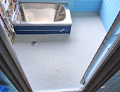 浴室床あんから敷き工事