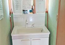 洗面化粧台取付工事