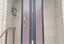 玄関塗装工事