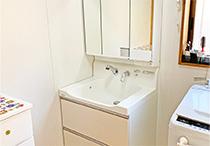 洗面化粧台、台所水栓交換