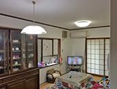 リビング改装、洗面化粧台取替、浴室暖房換気乾燥機取替工事
