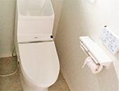 トイレ、洗面化粧台取替工事