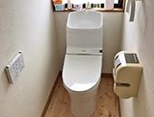 トイレ交換、床重ね貼り工事