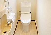トイレ、洗面化粧台交換